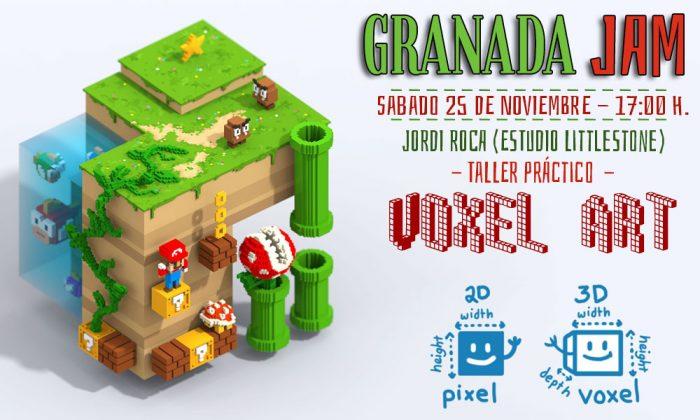 taller voxel art videojuegos granada