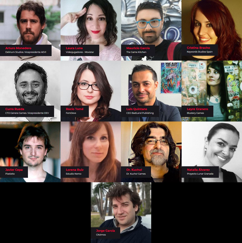 ponentes de diseño de videojuegos